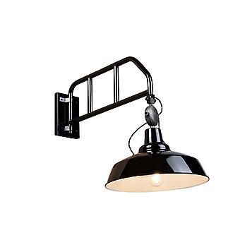 QAZQA Industrial Roust Wall Lamp Black with Swivel Arm - Manhattan