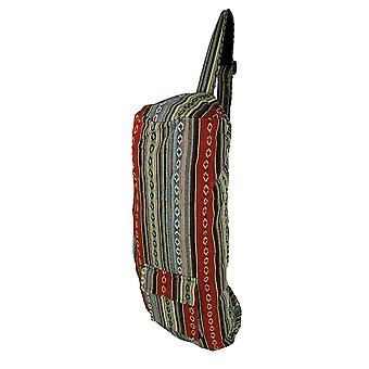 Boho Festival Tribal Stripe Cotton Yoga Mat Bag