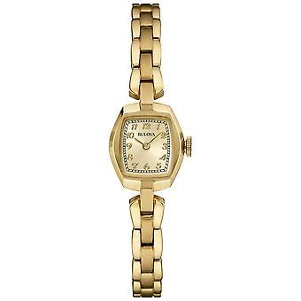 Bulova Women's goud vergulde Quartz 97 L 155 Watch