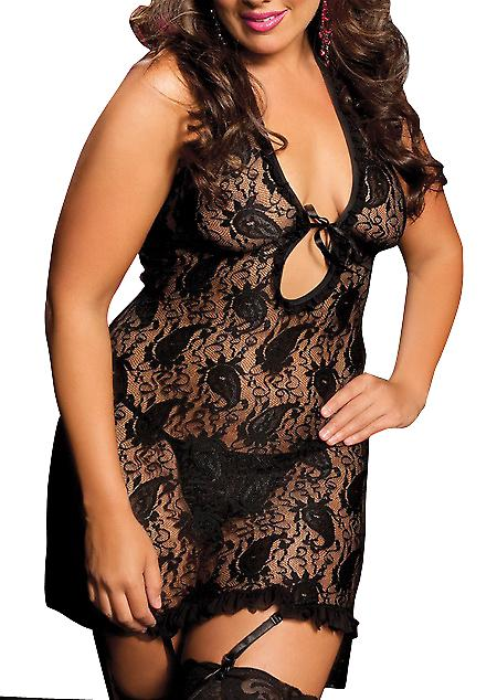 Waooh 69 - Body Transparent Black Lace