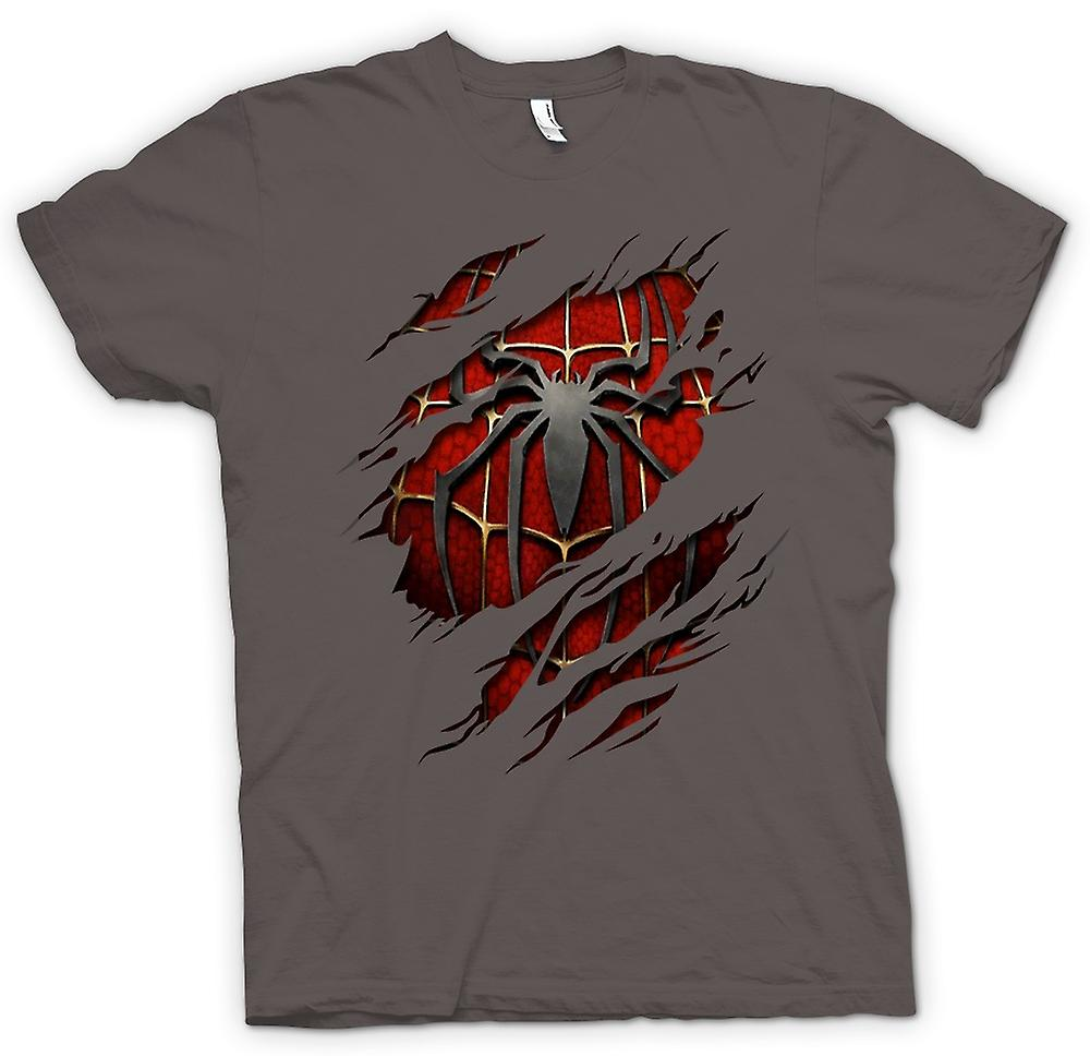 Mens T-shirt - Spiderman onder Shirt Effect - actie superheld