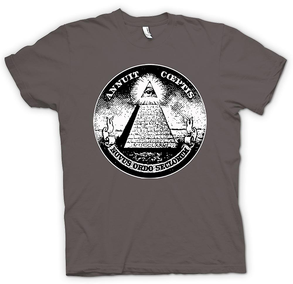 Womens T-shirt - Illuminati - konspiration Dollar