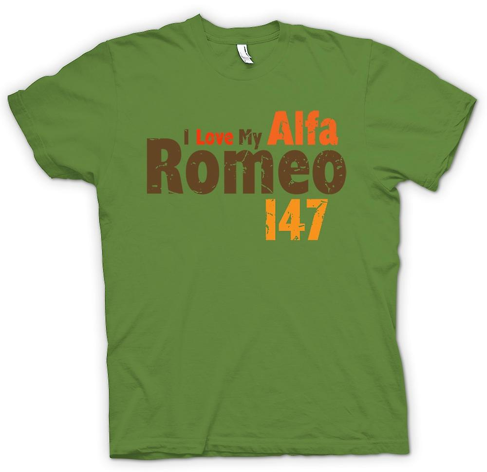 Mens T-shirt - I Love My Alfa Romeo - Car Enthusiast