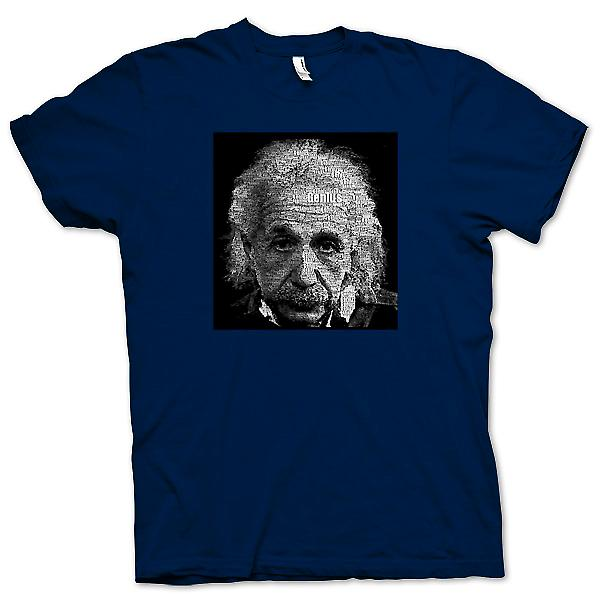 Herr T-shirt - Albert Einstein Word Cloud - geni
