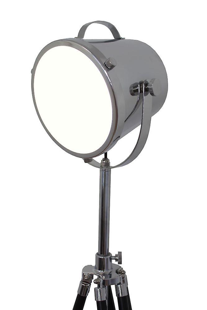 Retro lamp cinema floor lamp Humphrey black wooden tripod 10853