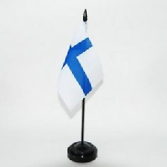 Finland tabel Flag med stok og Base