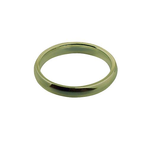 18ct Gold 3mm plain Court shaped Wedding Ring Size P
