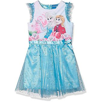 Girls HQ1164 Disney Frozen Short Sleeve Dress 4-8 Years