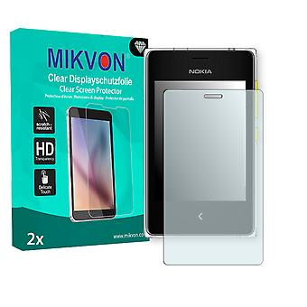 Nokia Asha 500 Screen Protector - Mikvon Clear (Retail Package with accessories)