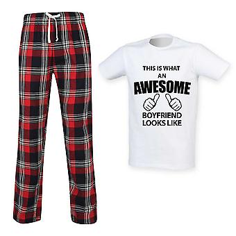 This Is What An Awesome Boyfriend Looks Like Tartan Pyjamas