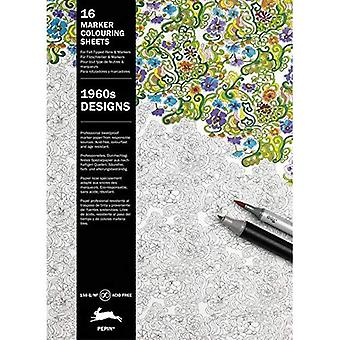 1960s Designs: Marker Colouring Sheets