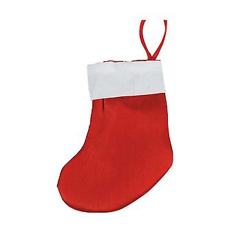 SALE - 12 Small Satin Christmas Stockings - Red | Gift Wrap Supplies