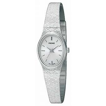Pulsar Womens' Stainless Steel Mesh Strap Oval Dial PK3031X1 Watch