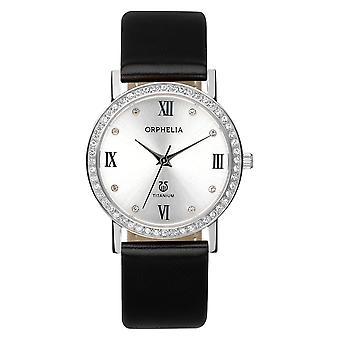 ORPHELIA Ladies orologio analogico Provence Black Leather 122-1723-84