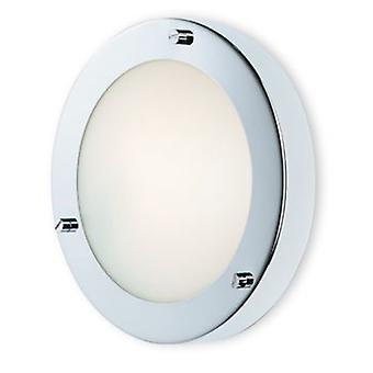 Firstlight-1 ljus vägg/infälld taklampa krom, opal glas IP54-2745CH