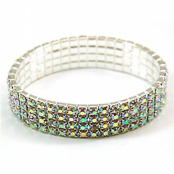 The Olivia Collection Super Sparkly Acrylic Set Elasticated Bracelet