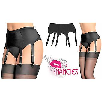 Nancies Lingerie Lycra 6 Strap Suspender / Garter Belt for Stockings