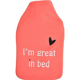 Cuddlesoft Embroidered 2L Hot Water Bottle: Great in Bed