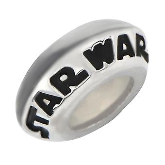 Star Wars Logo Stainless Steel Spacer Charm
