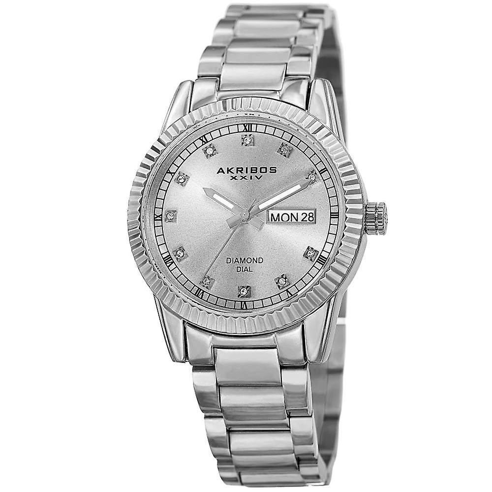 Akribos XXIV femmes quartz Diamond bracelet montre AK965SS