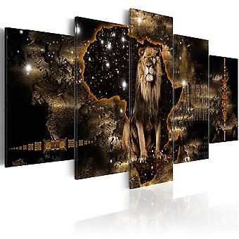 Kanfastryck-gyllene lejonet