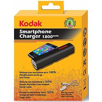 Kodak Powerbank USB Smartphone Ladegerät Schwarz 1800 mAh