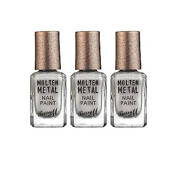 Barry M 3 X Barry M Molten Metal Nail Paint - Holographic Lights