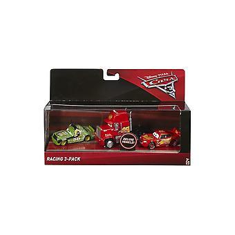 Disney Cars Racing 3-Pack Die Cast Vehicle Set