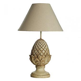 Premier Home Acorn tafel lamp, linnen mix, hars, beige
