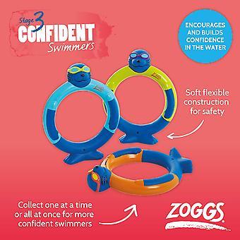 Zoggs zinken water speelgoed Zoggy duik ringen (Pack van 3) in geassorteerde-3 jaar +