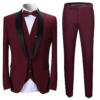 Allthemen män ' s 3-Piece tuxedos bankett Business Suits kavaj & väst & byxor