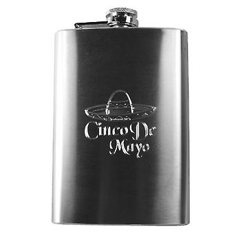 8oz cinco de mayo hip flask router