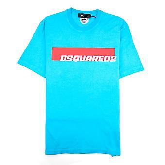 Dsquared2 Stripe Logo T-shirt Teal