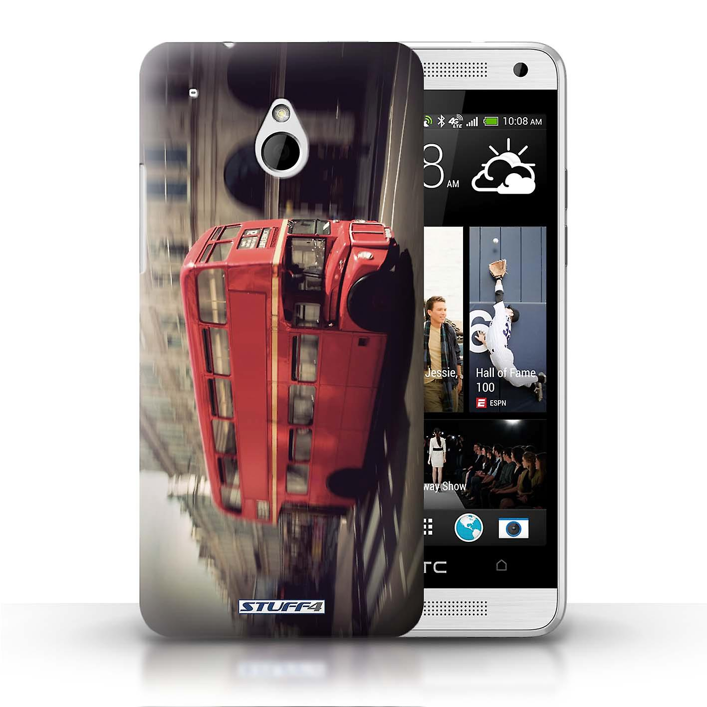 Stuff4 Case Cover For Htc One 1 Mini Red Bus London