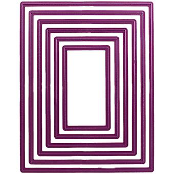 Cheery Lynn Designs Die-Rectangle Classic Lg Purple Stackers CLXL16