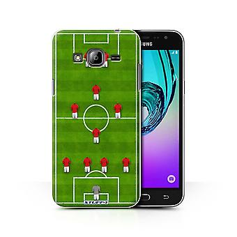 STUFF4 Case/Cover voor de Samsung Galaxy J3/4-1-2-1-2/Red/voetbal vorming