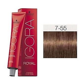 Schwarzkopf Professional Igora Royal 7-55 Medium Blonde Intense Dorado