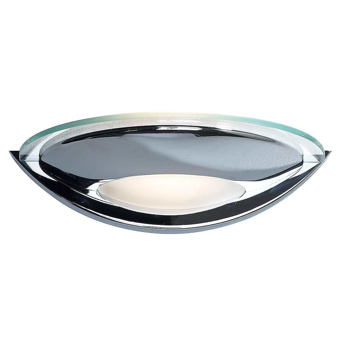 Dar VIA0750 Via Contemporary Single Wall Light With A Polished Chrome Finish