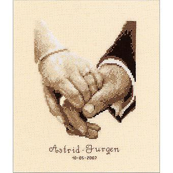 Wedding Happiness On Aida Counted Cross Stitch Kit-6.4