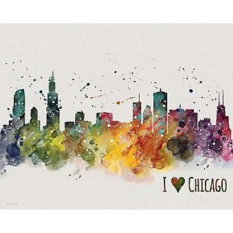 Chicago affisch Skriv av Jo Moulton