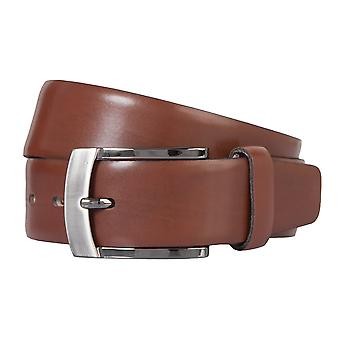 BERND GÖTZ belt leather men's belts leather belt can be shortened Cognac 172