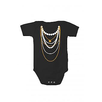 T-shirt with print baby body with pressure chain