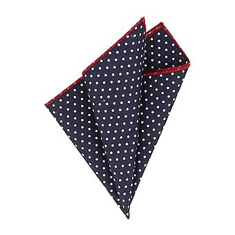 Snobbop handkerchief Navy blue white dots of Red edge handkerchief Cavalier cloth