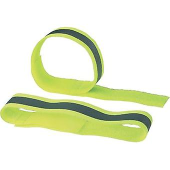 Hook-and-loop tape with reflector, sew-on Hook and loop pad (L x W) 400 mm x 30 mm Yellow reflecting Fastech 2 STK FAST-