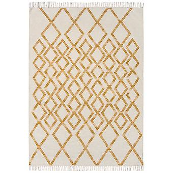 Hackney Kelims Diamond Rectangle jaune tapis tapis modernes