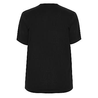 BadRhino Black Crew Neck Basic T-Shirt - TALL