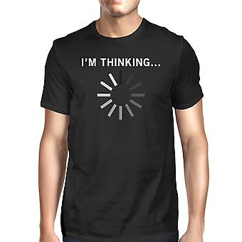 I Am Thinking Men's T-shirt Graphic Shirt Short Sleeve Cotton Tee
