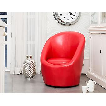 Tommy Leather Tub Chair Stylish Egg Shaped Design
