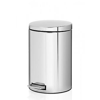 Brabantia 12 Litre Pedal Bin in Brilliant Steel