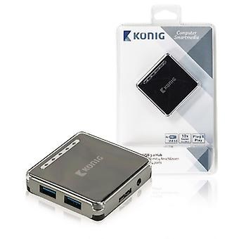 König USB 3.0-switch with 4 ports